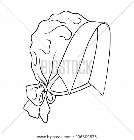 Headpiece, single icon in outline style.Headpiece, vector symbol stock illustration .