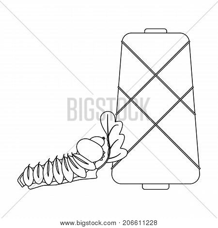 Coil, single icon in outline style.Coil, vector symbol stock illustration .