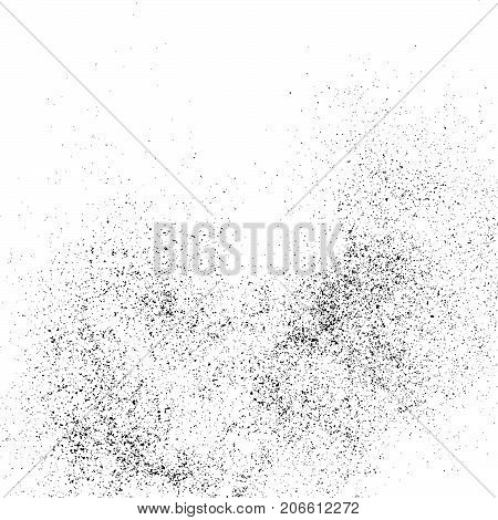 Black grainy texture isolated on white background. Distress overlay textured. Grunge design elements. Vector illustrationeps 10.