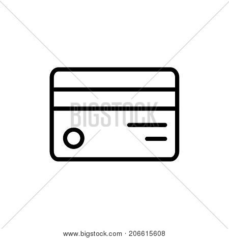 Premium credit card icon or logo in line style. High quality sign and symbol on a white background. Vector outline pictogram for infographic, web design and app development.