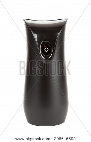 Black Plastic Automatic Air Freshener on a white background