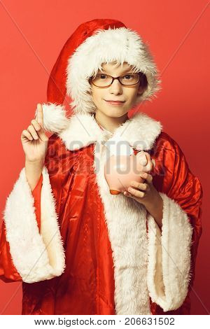 Young Cute Santa Claus Boy