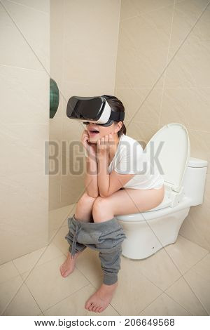 Elegant Leisurely Woman Using Virtual Reality