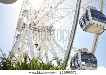 Ferris wheel of excellence in cape town south africa waterfront