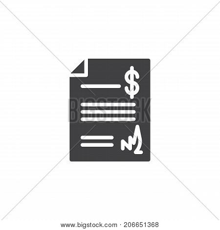 Act document icon vector, filled flat sign, solid pictogram isolated on white. Symbol, logo illustration.