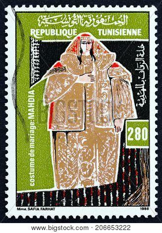 TUNISIA - CIRCA 1986: A stamp printed in Tunisia from the