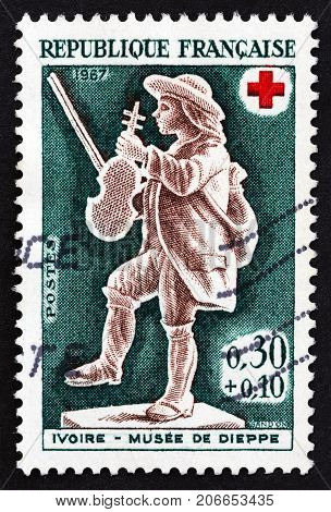 FRANCE - CIRCA 1967: A stamp printed in France from the