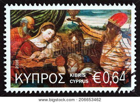 CYPRUS - CIRCA 2016: A stamp printed in Cyprus from the