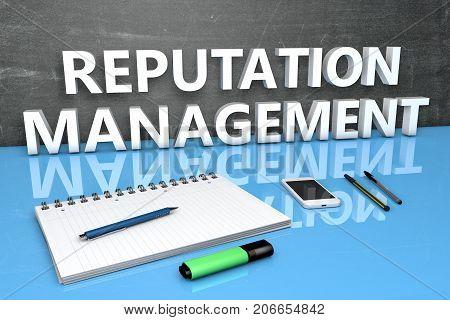 Reputation Management Text Concept