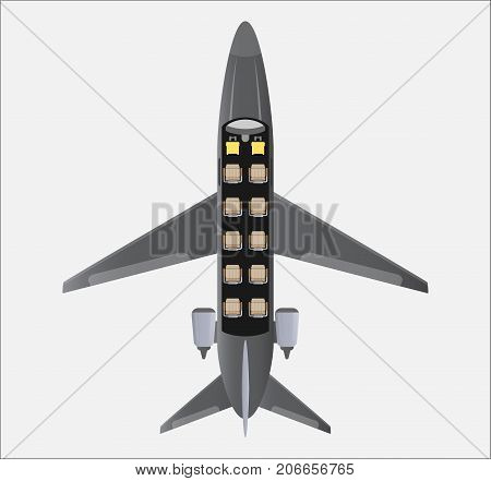 Seat Map Of Small Private Jet Aircraft