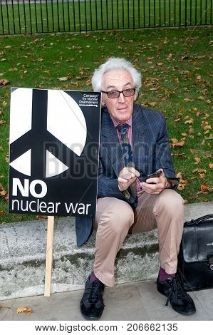 Protesters Gather In London For An Anti Nuclear War Protest