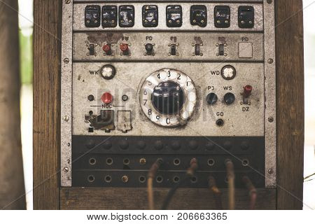 Old analog telephone station. Part of equipment