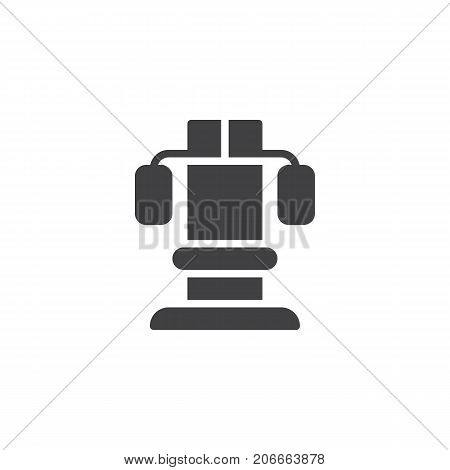 Training apparatus icon vector, filled flat sign, solid pictogram isolated on white. Symbol, logo illustration.