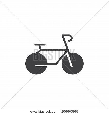 Bicycle icon vector, filled flat sign, solid pictogram isolated on white. Bike symbol, logo illustration.