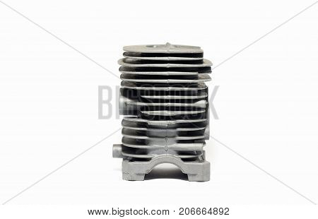 Cooler Radiator Piston Cylinder Motorcycle And Bezpola, New, Isolated On White Background