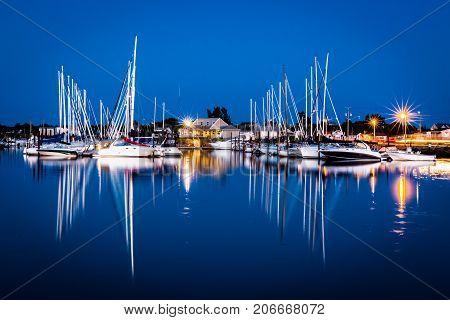 Boats in Shediac, Point du chene, New Brunswick, Canada