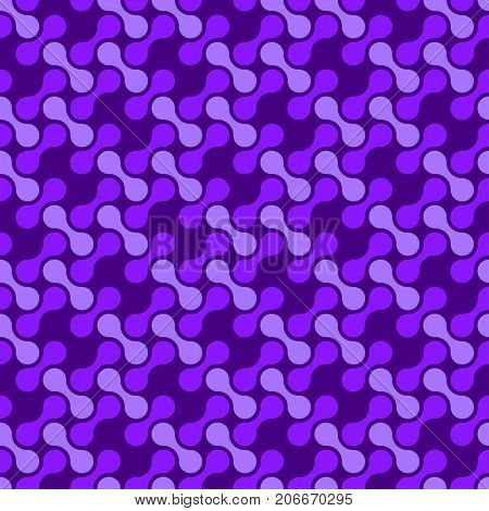 Abstract violet seamless pattern with dumbbell forms