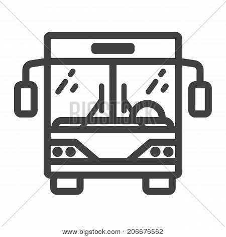 Bus line icon, transport and vehicle, tour bus sign vector graphics, a linear pattern on a white background, eps 10.