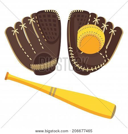 Baseball Brown Equipment Set