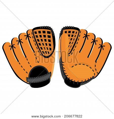 Baseball Glove Two Side