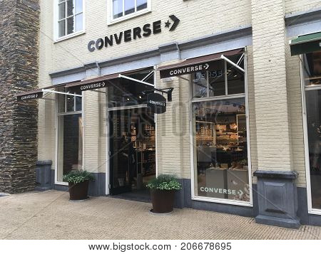 Lelystad, The Netherlands - September 30, 2017: Converse fashion outlet store in Batavia Stad in the city of Lelystad.