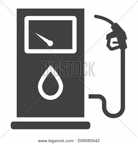 Gas station glyph icon, petrol and fuel, pump sign vector graphics, a solid pattern on a white background, eps 10.