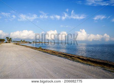Dunedin Causeway, connected to honeymoon island.  Dunedin, Florida, USA