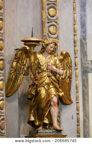 Statue Of An Angel In The Collegiata Of San Gimignano