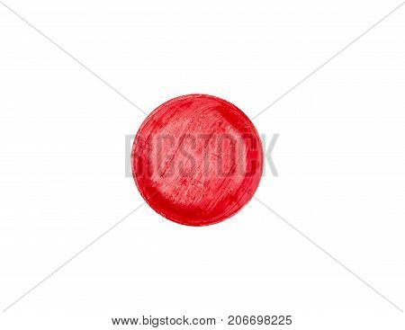 Medical lozenges for relief cough sore throat and throat irritation isolated on white background with clipping path