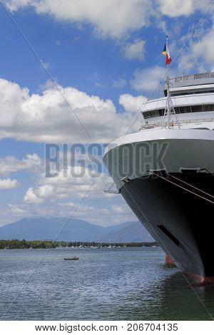 Port of Cairns In Queensland Australia and Cruiser Ship