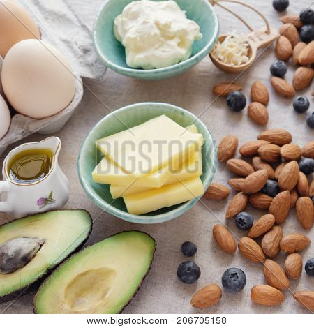 Keto ketogenic diet low carb high fat healthy weight loss food