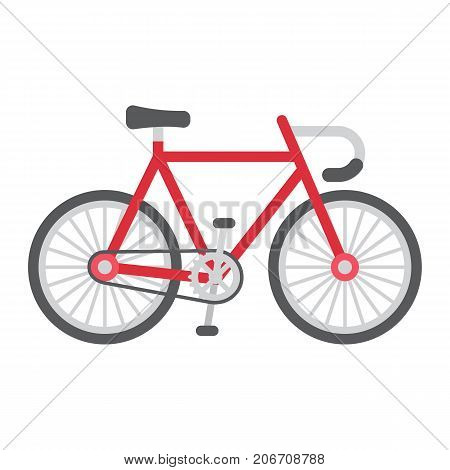 Bicycle flat icon, transport and vehicle, bike sign vector graphics, a colorful solid pattern on a white background, eps 10