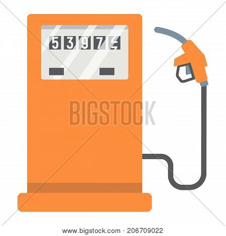 Gas station flat icon, petrol and fuel, pump sign vector graphics, a colorful solid pattern on a white background, eps 10