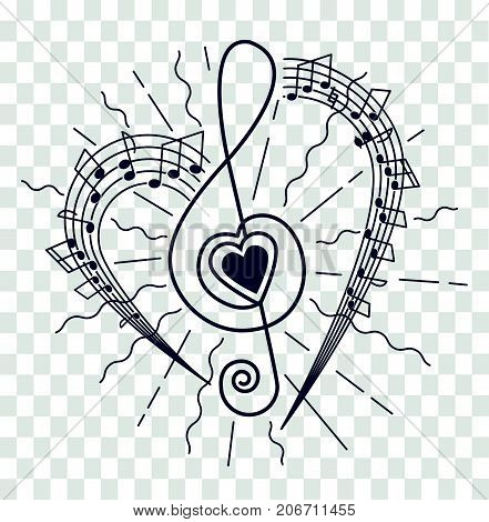 Silhouette Of Musical Representation