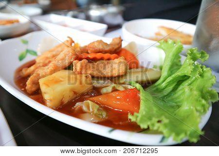 stir fried vegetable in Korean style Korean food