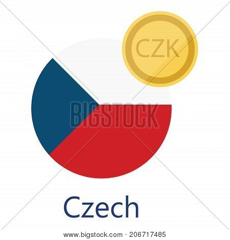 Czech Flag And Currency