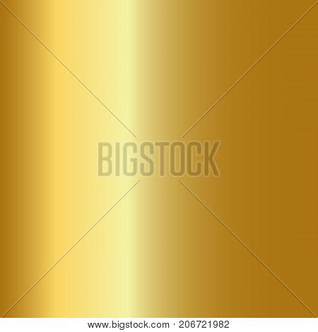 Gold gradient vector. Golden gradient illustration for backgrounds cover frame ribbon banner coin label flyer card poster etc. Vector template