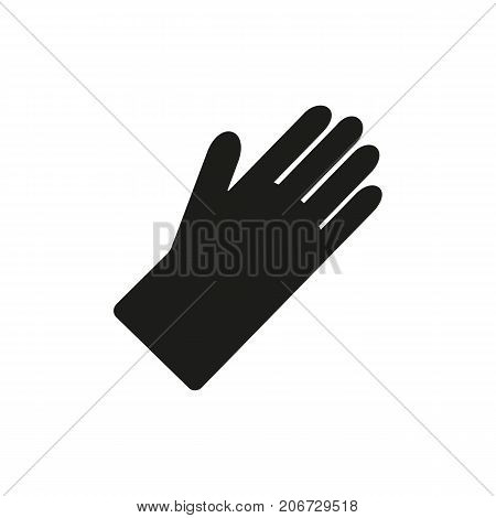 Simple icon of exam gloves. Rubber gloves, work gloves, medical uniform. Medical equipment concept. Can be used for topics like medicine, cleaning, hospital