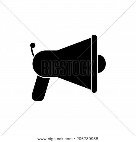 Icon of portable megaphone. Loud hailer, voice, acoustic. Mass media concept. Can be used for topics like speaker, agitation, device
