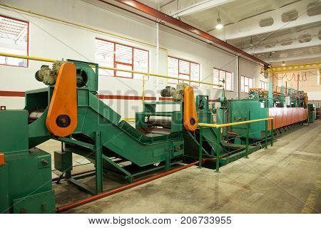 Workshop With Machines For The Manufacture Of Screws