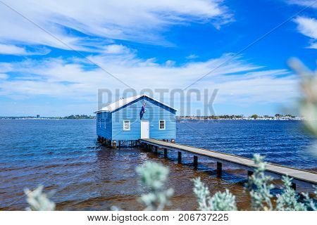 The Crawley boatshed on the Swan River in Perth, Western Australia.