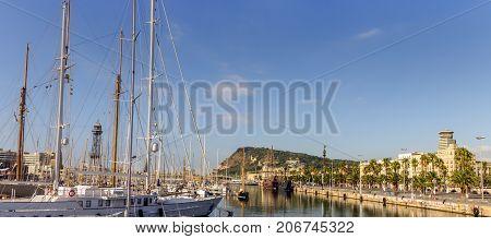 Harbor Of Barcelona Catalonia, Spain.