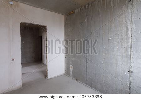 Room In New Building Without Repair, Entrance To The Room