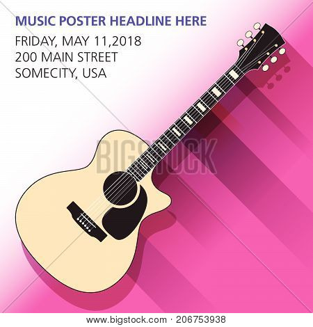 An acoustic guitar background - ideal for gig flyers or CD art