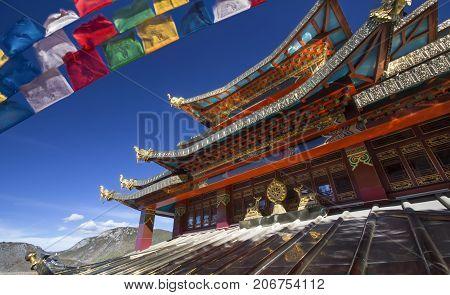 Guishan Temple in Dukezong Old Town ,Shangri-La (Zhongdian) ,Yunnan China