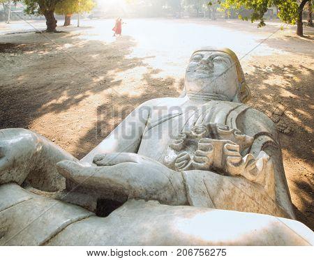 The Forgotten buddha statue in mandalay Myanmar