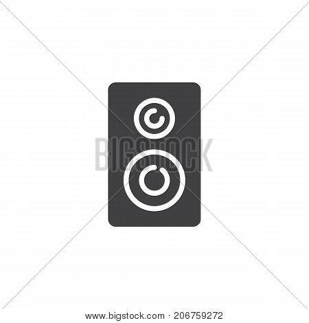 Stereo loudspeakers icon vector, filled flat sign, solid pictogram isolated on white. Symbol, logo illustration.
