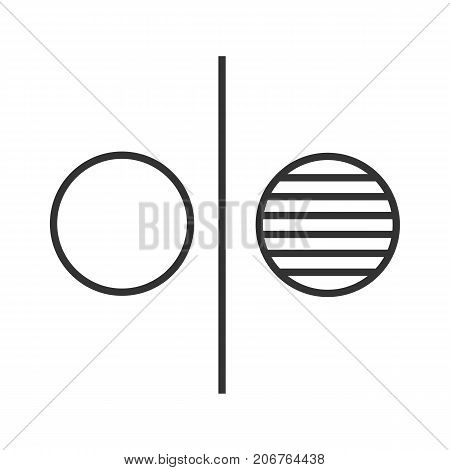 Opposite symbol linear icon. Opponents abstract metaphor. Thin line illustration. Division contour symbol. Vector isolated outline drawing