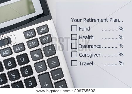Planning the future that after retirement you should allocate your money.