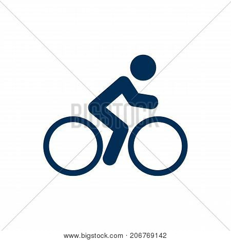 Vector Rider Element In Trendy Style.  Isolated Cyclist Icon Symbol On Clean Background.